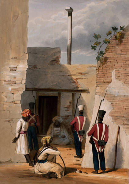 Soldier Drawing - The Prison Of Hadjee Khan Kakus - by Lieutenant Thomas Wingate