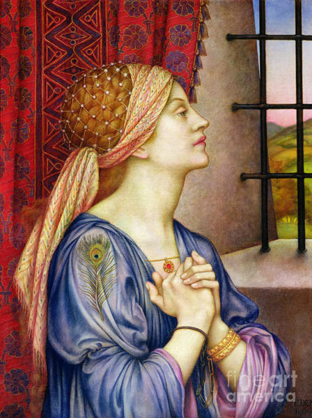 Painting - The Prisoner by Evelyn De Morgan