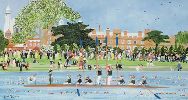 Fourth Photograph - The Procession Of Boats At Eton College by Judy Joel