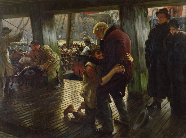 Painting - The Prodigal Son In Modern Life by James Jacques Joseph Tissot