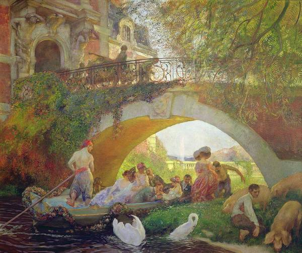 Swan Photograph - The Prodigal Son Oil On Canvas by Gaston de La Touche
