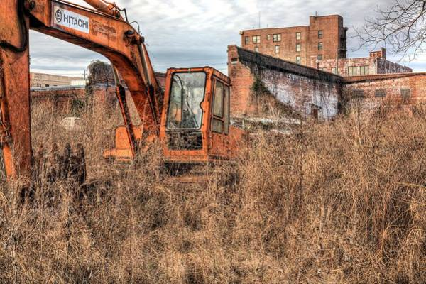 Excavator Photograph - The Project by JC Findley