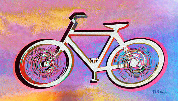 Digital Art - The Psychedelic Bicycle by Bill Cannon