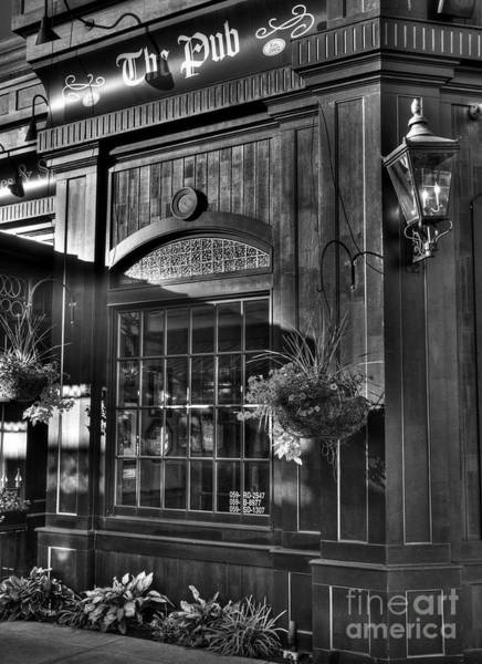 Photograph - The Pub Bw by Mel Steinhauer