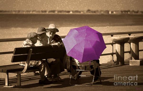Photograph - The Purple Umbrella by Jeff Breiman