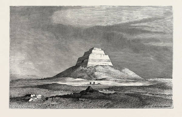 Wall Art - Drawing - The Pyramid Of Meydoom by Litz Collection