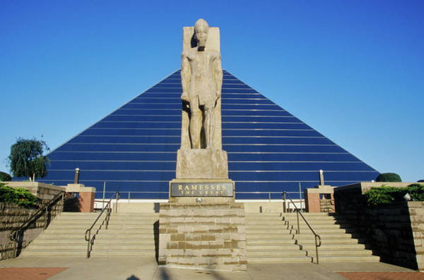Memphis Design Wall Art - Photograph - The Pyramid Sports Arena In Memphis, Tn by Panoramic Images