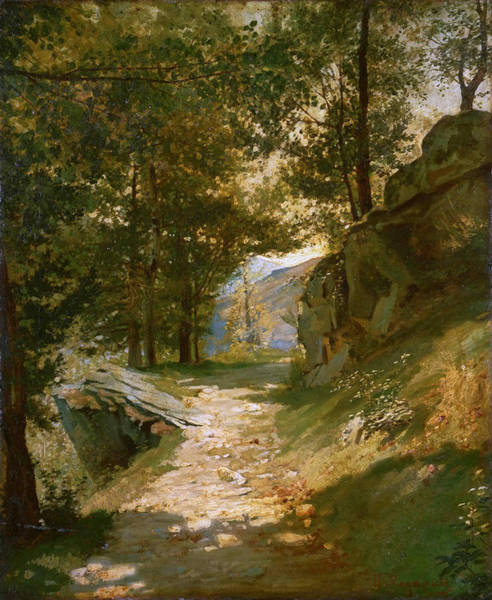 Pyrenees Painting - The Pyrenees by Henri Regnault