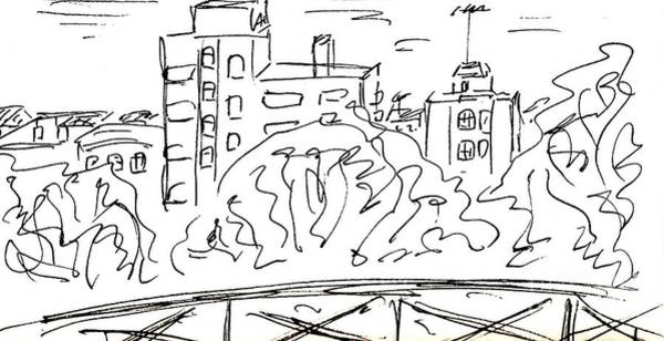Drawing - Quarter Carihuela In Torremolinos by Chani Demuijlder