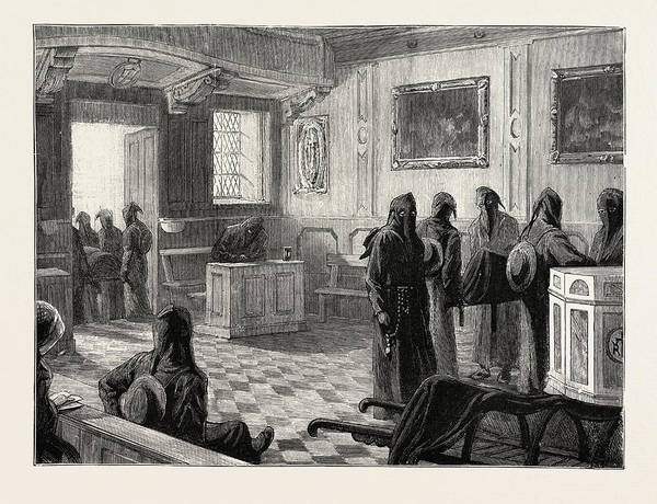 Duty Drawing - The Queen At Florence, Italy, The Chapel by Italian School
