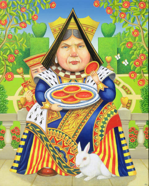 Tart Wall Art - Painting - The Queen Of Hearts by Frances Broomfield