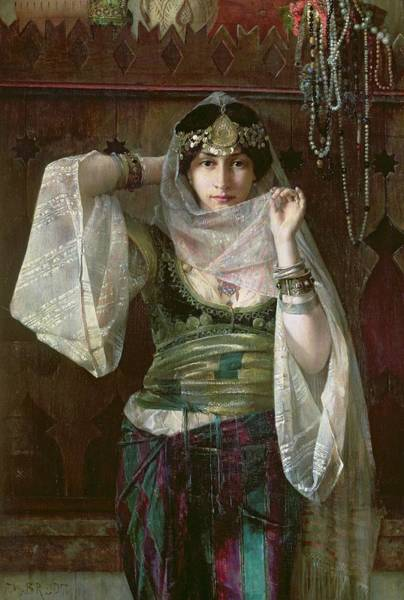 Silk Painting - The Queen Of The Harem by Max Ferdinand Bredt
