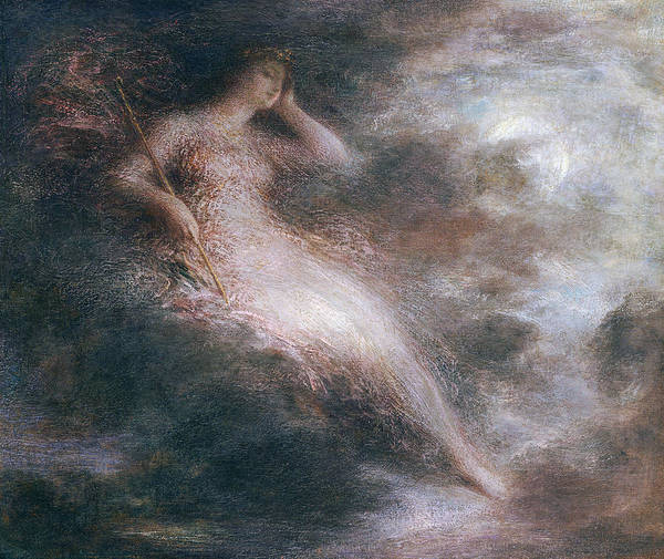 Foggy Painting - The Queen Of The Night by Ignace Henri Jean Fantin-Latour