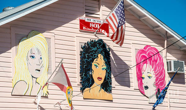 Bourbon Street Wall Art - Photograph - The Queens - 801 Bourbon Bar - Key West  by Ian Monk