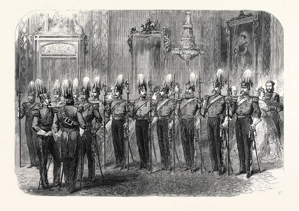 Royal Court Drawing - The Queens Court The Hon by English School
