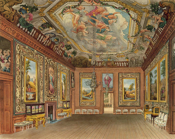Wall Art - Drawing - The Queens Drawing Room, Windsor by Charles Wild