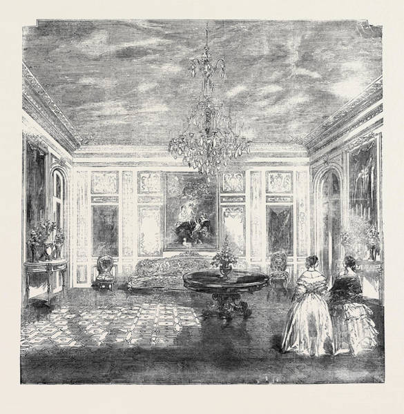 Wall Art - Drawing - The Queens Visit To France Her Majestys Salon by French School