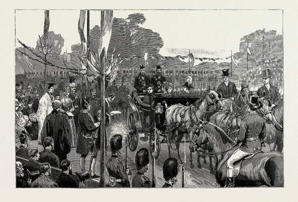Gold Medal Drawing - The Queens Visit To North Wales, Uk by Litz Collection