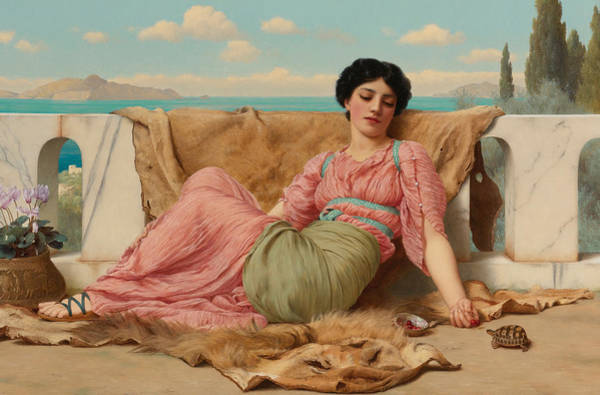 Victorian Era Painting - The Quiet Pet by John William Godward