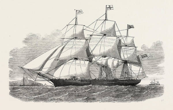 Early American History Drawing - The Racer Clipper Packet-ship, Of New York by American School