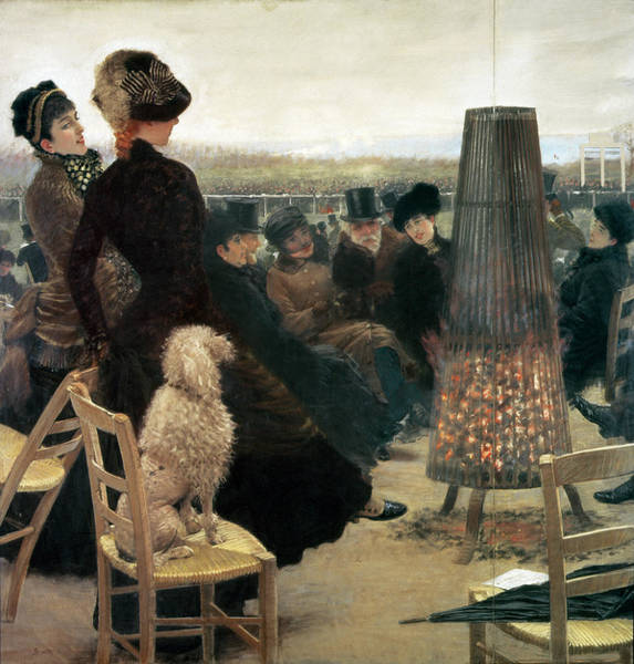 Spectators Painting - The Races At Auteuil by Giuseppe Nittis
