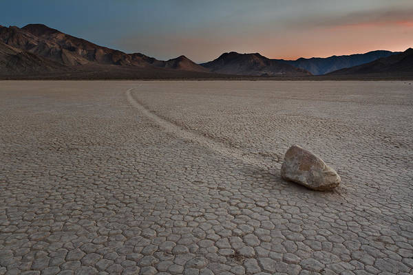 Canon 7d Photograph - The Racetrack At Death Valley National Park by Eduard Moldoveanu