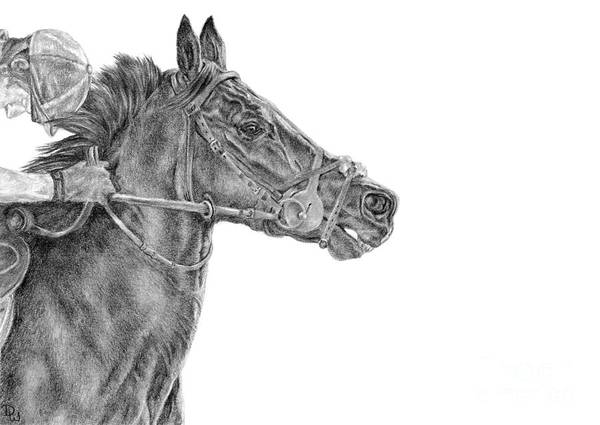 Drawing - The Racing Game by Pencil Paws