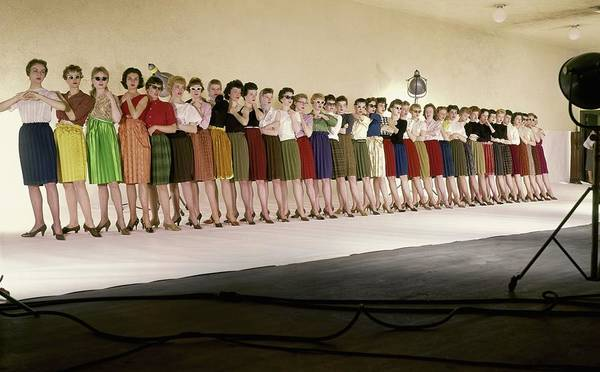 Group Of People Photograph - The Radio City Rockettes by John Rawlings