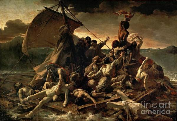 Painting - The Raft Of The Medusa by Celestial Images