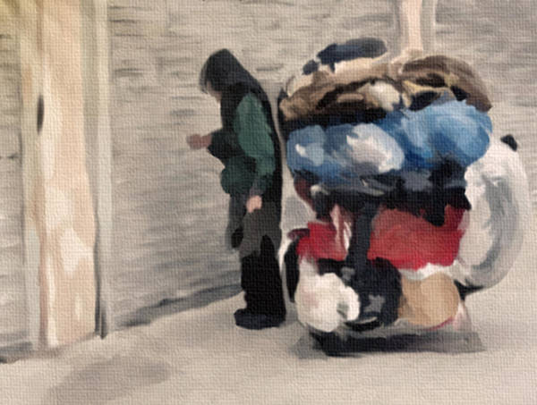 Recycling Painting - The Rag Man by Dennis Buckman