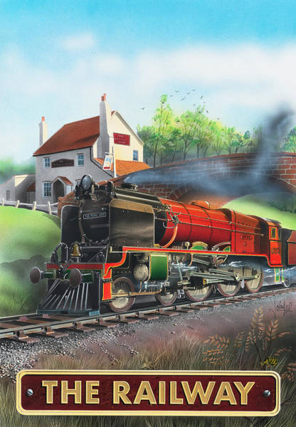 Tavern Painting - The Railway by MGL Meiklejohn Graphics Licensing