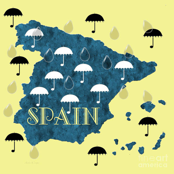 Digital Art - The Rain In Spain by Andee Design