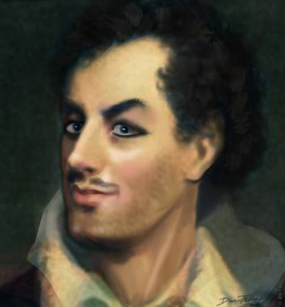 Seducer Painting - The Rakish Poet Lord Byron by Dan Terry