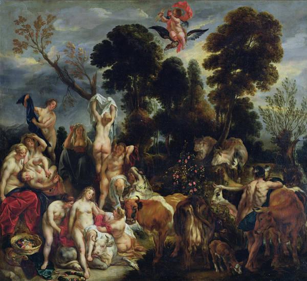 Metamorphosis Photograph - The Rape Of Europa, 1643 Oil On Canvas by Jacob Jordaens
