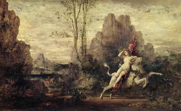 Abduction Wall Art - Painting - The Rape Of Europa by Gustave Moreau