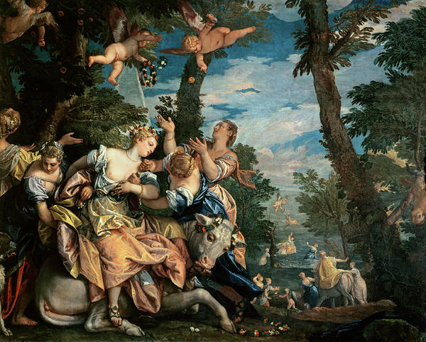 Putto Painting - The Rape Of Europa by Veronese