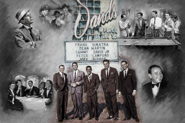 The Mixed Media - The Rat Pack by Viola El