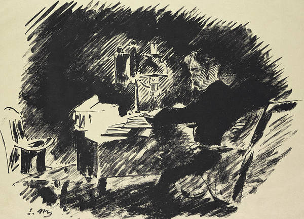Raven Drawing - The Raven by Edouard Manet