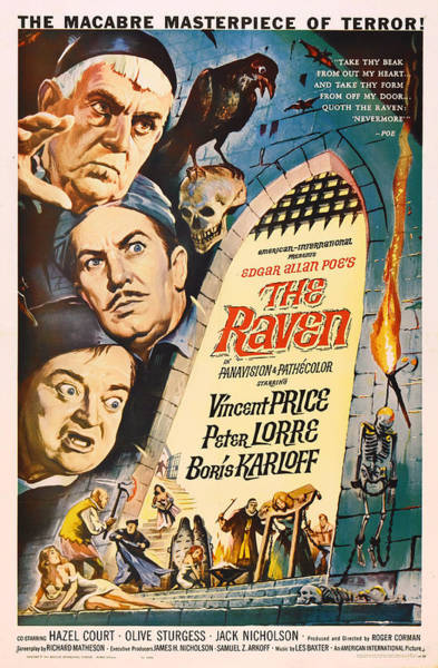 Boris Karloff Photograph - The Raven Vintage Movie Poster by Mountain Dreams
