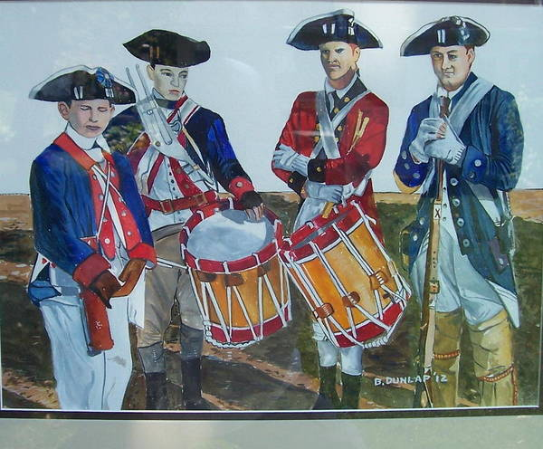 Fife Painting - The Re-enactors by Bart Dunlap