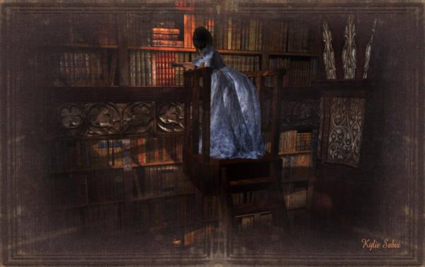 Reader Digital Art - The Reader 07013101 - By Kylie Sabra by Kylie Sabra