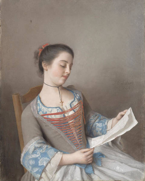 Jean Etienne Liotard Wall Art - Painting - The Reader by Jean-Etienne Liotard