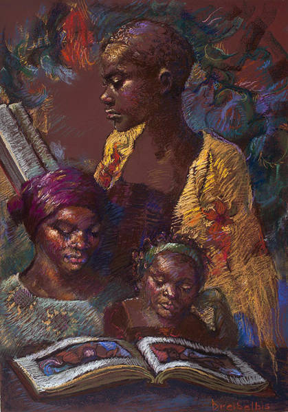 Painting - The Readers by Ellen Dreibelbis