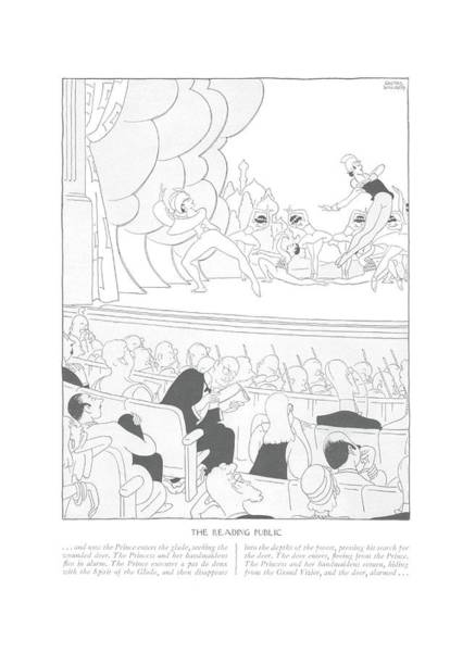 Disappear Wall Art - Drawing - The Reading Public   . . . And Now The Prince by Gluyas Williams