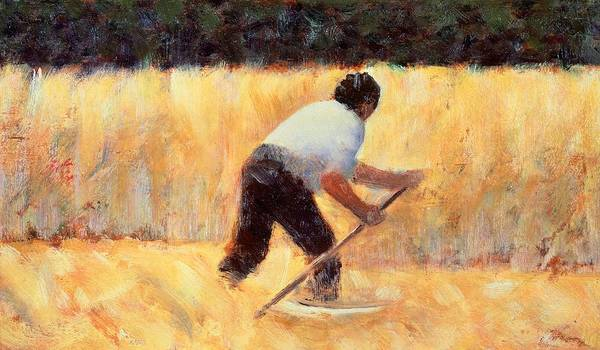 Fertility Painting - The Reaper by Georges Seurat
