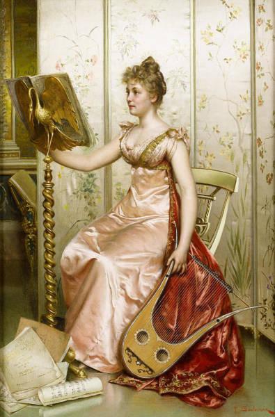 Harp Digital Art - The Recital by Frederick Soulacroix