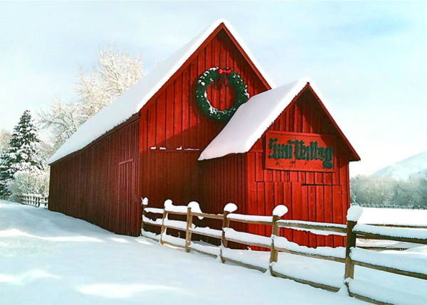 Coffee Mug Photograph - The Red Barn In Sun Valley by Amy G Taylor