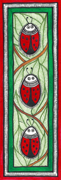 The Red Lady Bug Art Print