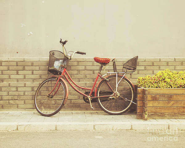Bike Photograph - The Red Bicycle by Jillian Audrey Photography