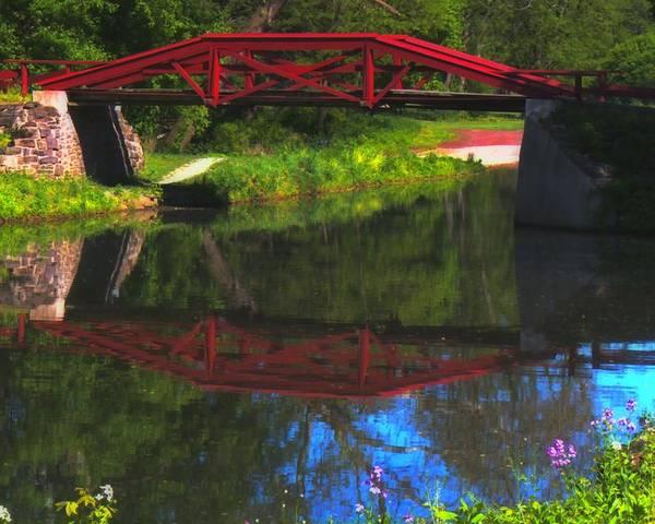 The Red Bridge Art Print